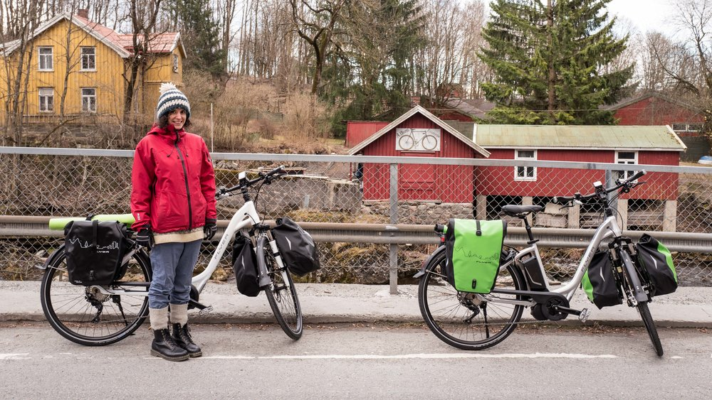 Near Sandvika, on our way!