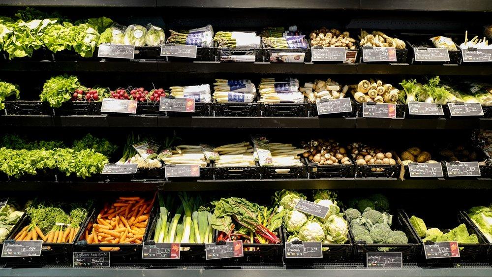 Organic veggies at Bio Markt, Germany.