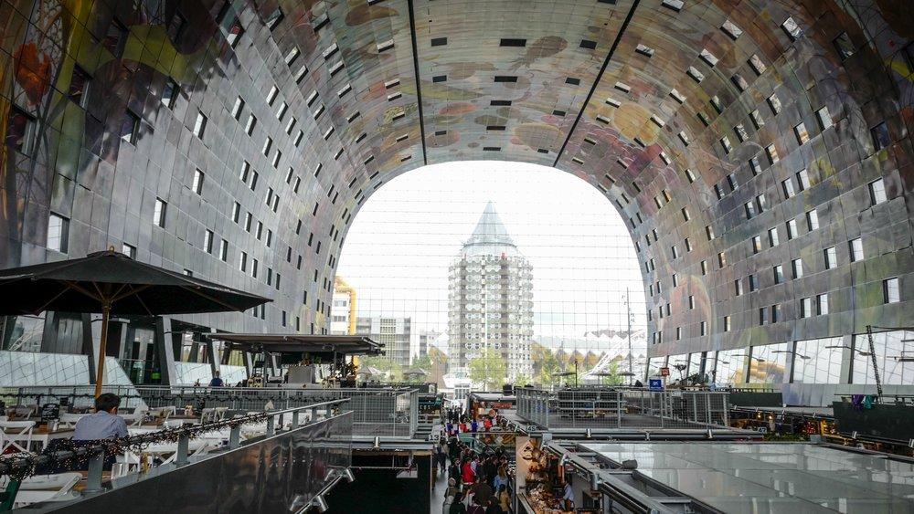 inside Rotterdams Markthal