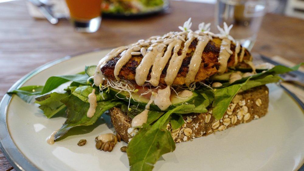 Delicious vegan and organic food at De Herviboore in Groningen.