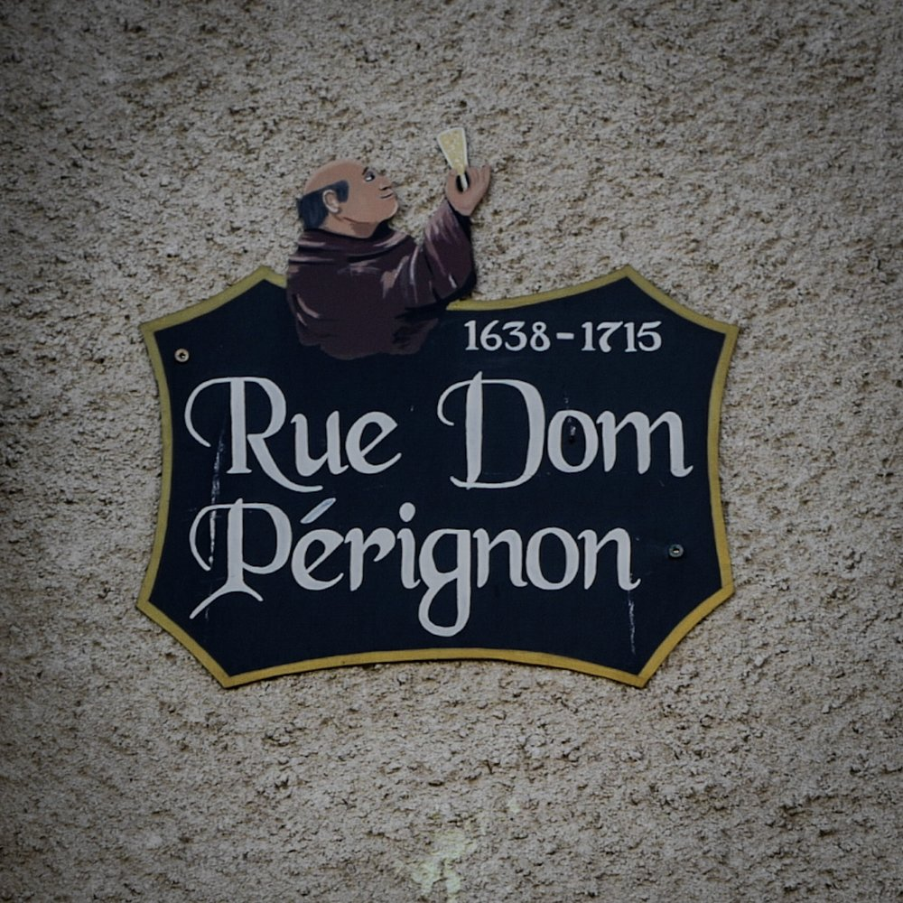 The street of Dom Pérignon, the munk with a passion for bubbles, in Hauteville.