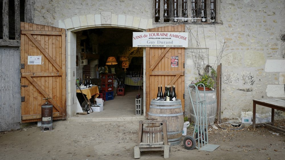 A wine store inside a cave on our way to Poitiers.