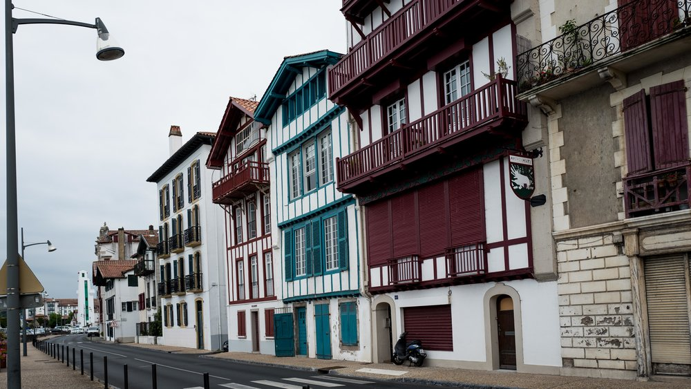 Typical architecture in Saint Jean de Luz, French Basque Country