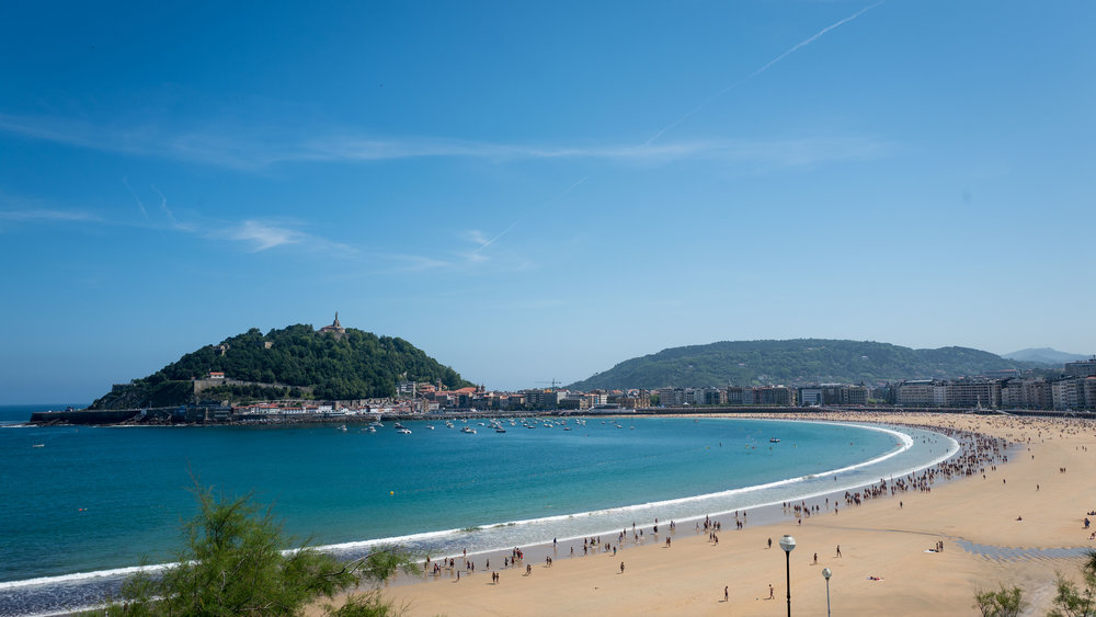 San Sebastian, Spanish Basque country. We stayed here for 2 nights