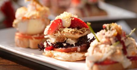 Pinchos are like a snack, such as mini sandwiches, mini tortillas (the spanish kind), mini toasts with olives and tomatoes….Pretty much mini everything. Usually they're pretty fatty (a lot of olive oil) and I think this is probably well thought of because of the combination with alcohol. *This picture is taken from another blog