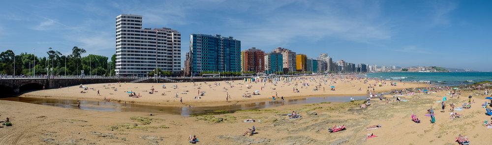 The beautiful city of Gijón (Xixón)