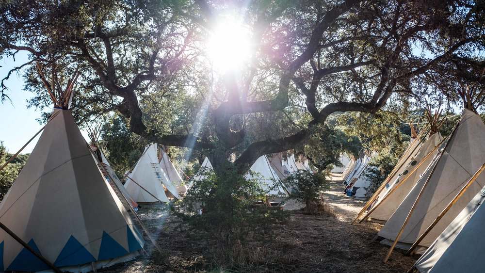 Being Gathering, tipi camp