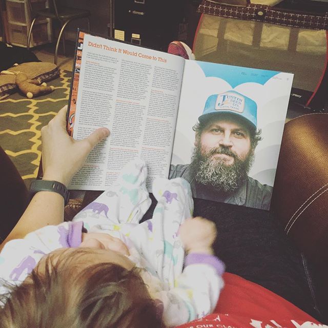 Reading the good stuff to my kid. An amazing book by the incredible @draplin