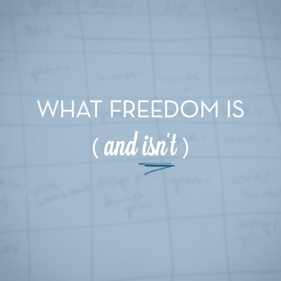 what freedom is (and isn't) // tiffany han