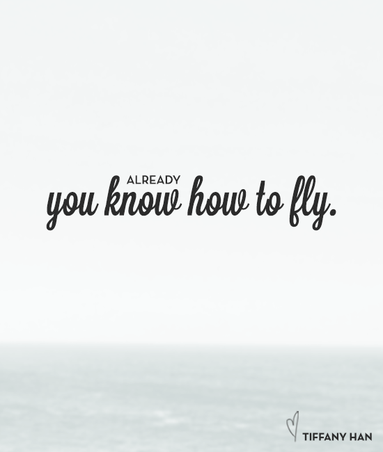 You already know how to fly. via Tiffany Han