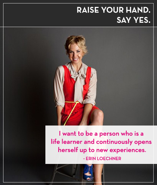 Raise your hand. Say yes. Episode 2: Erin Loechner and Saying yes