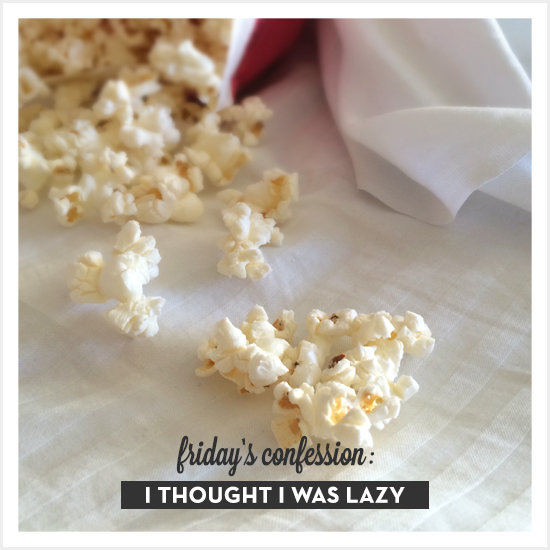 Friday's confession: I thought I was lazy. via Tiffany Han