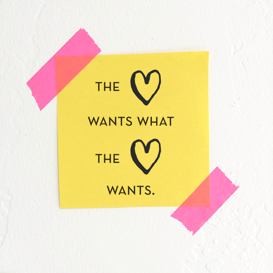 the heart wants what the heart wants via Tiffany Han