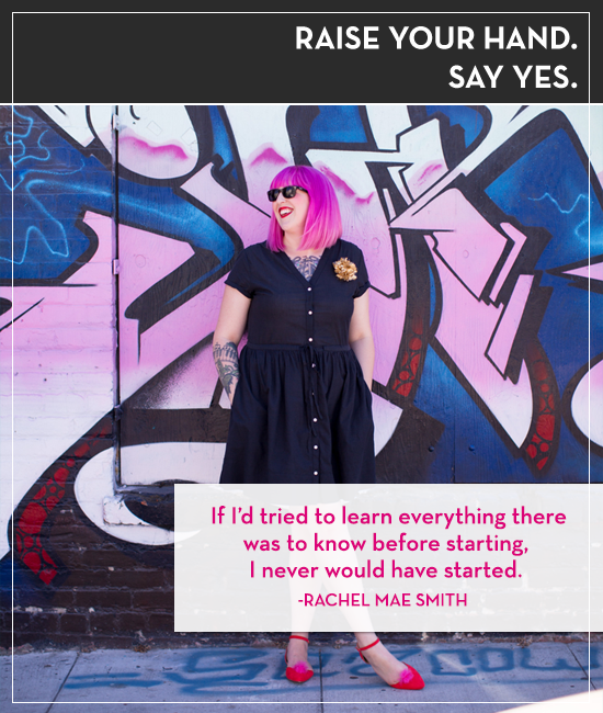 Rachel Mae Smith of The Crafted Life on the Raise Your Hand Say Yes podcast with Tiffany Han