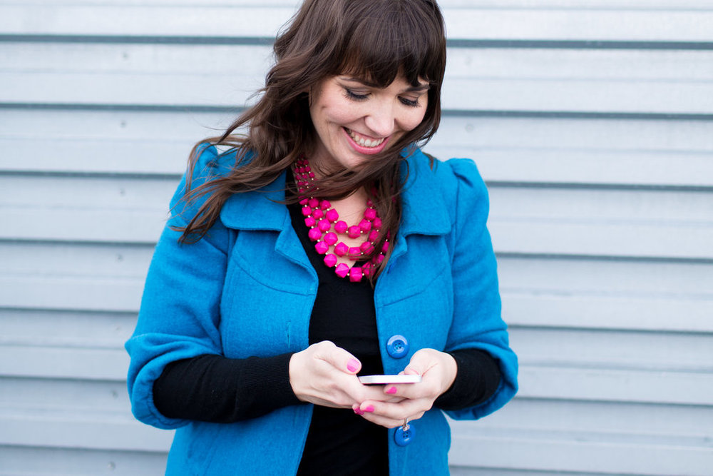 ...and Mama loves her phone. - a new blog post