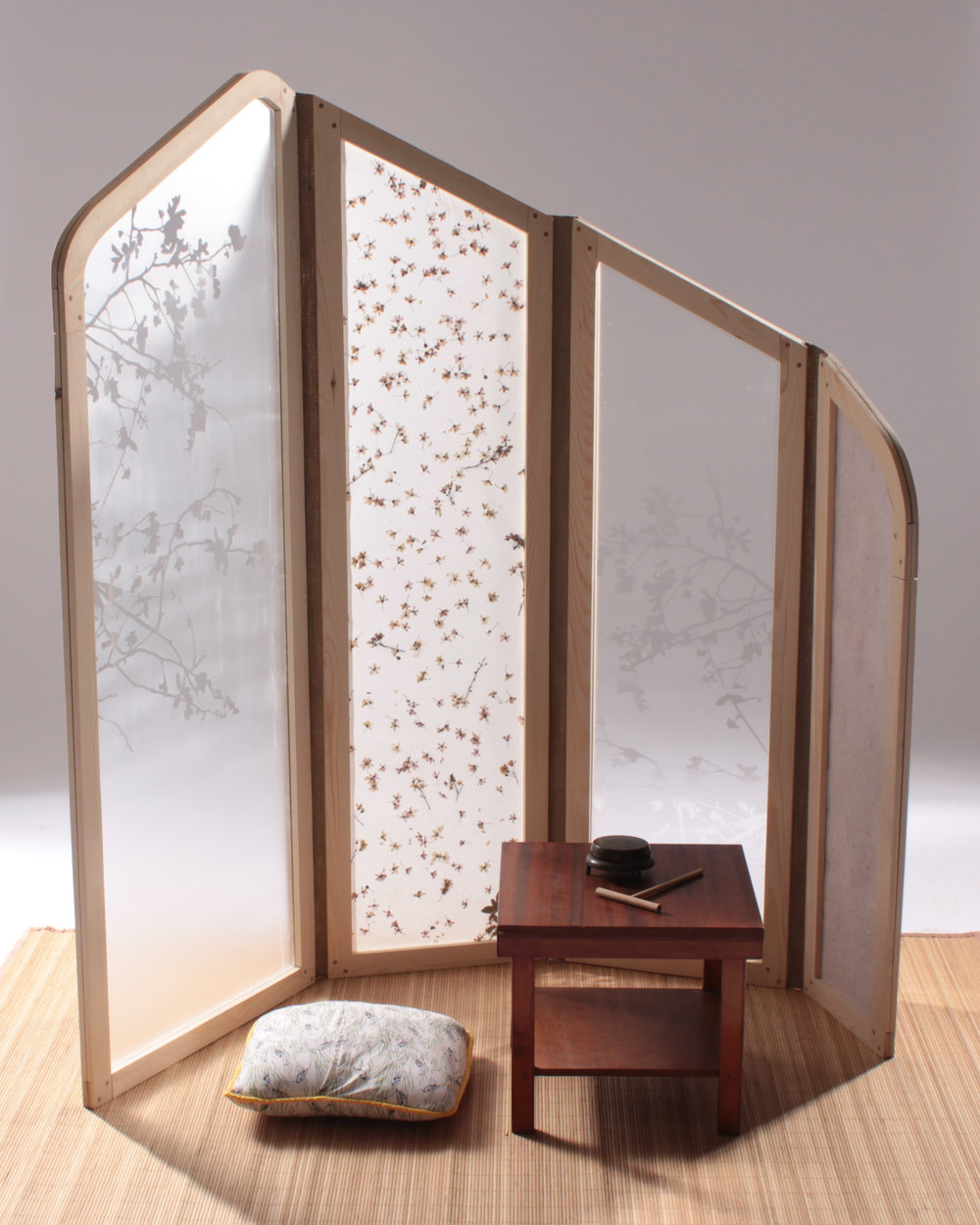 japanese folding screen 1 crane away rebecca howson