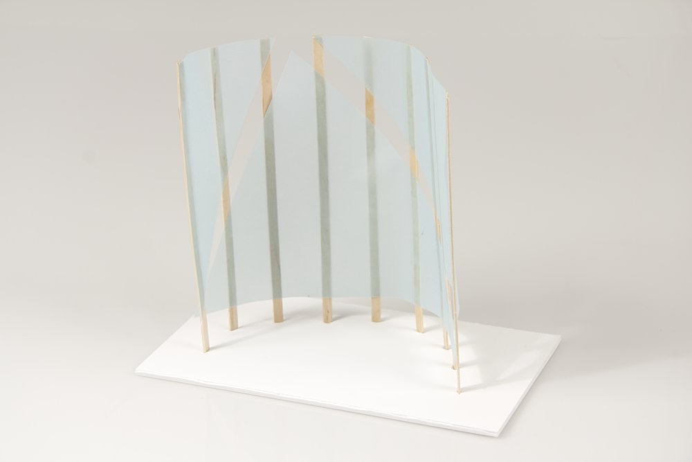 japanese screen maquettes 3 crane away rebecca howson