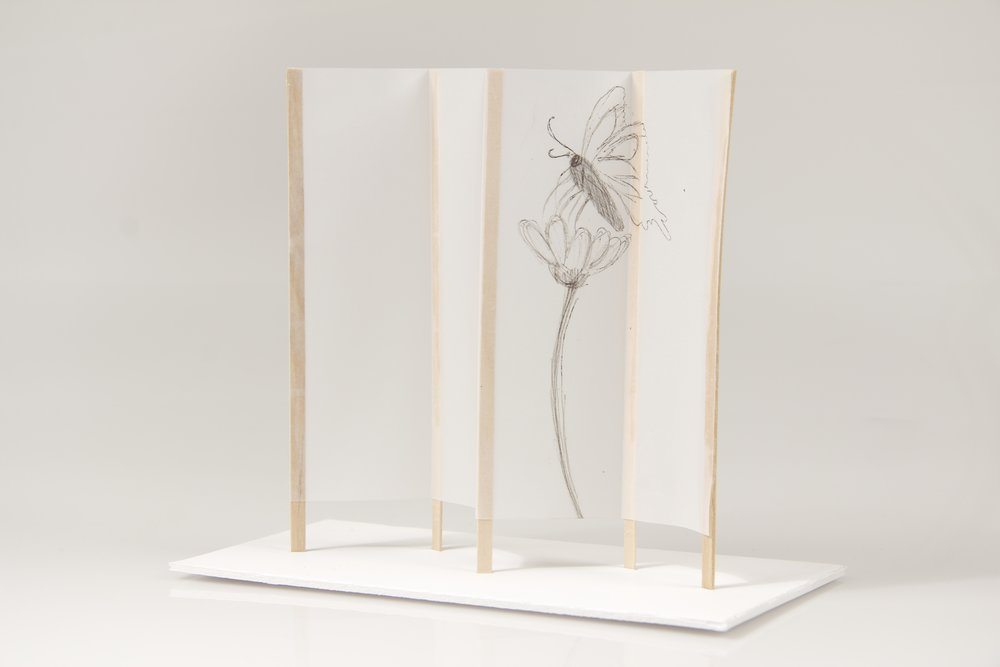 japanese screen maquettes 9 crane away rebecca howson