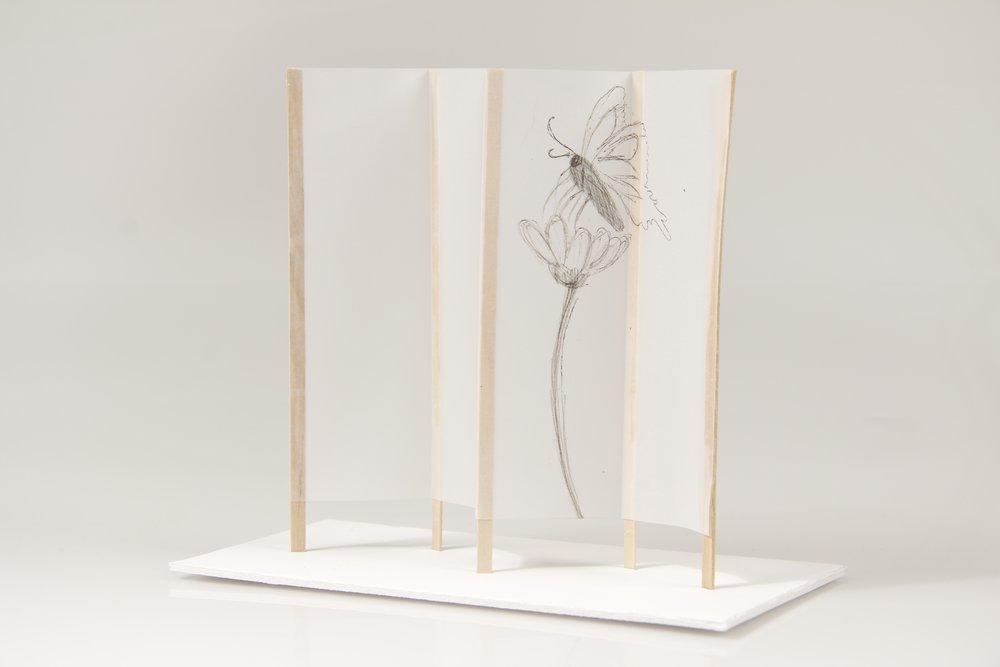 japanese screen maquettes 9 crane away rebecca howson