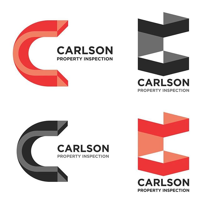 Logo concepts for Carlson Property Inspection (2016)