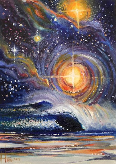 """Cosmic Playground"" Oil on Hardboard"