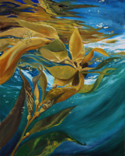 """""""Surface Reflections"""" Oil on Board"""