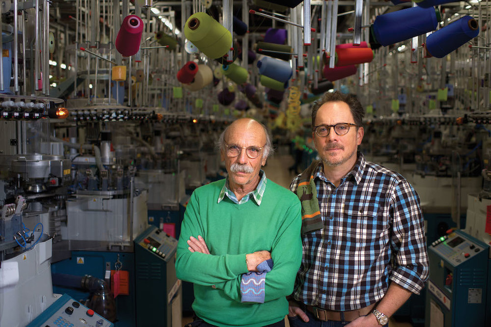 Left: Co-Owner Marc Cabot. Right: Co-Owner and CEO Ric Cabot. Photo courtesy of Darn Tough Vermont. - See more at: http://freeskier.com/stories/we-took-a-tour-through-darn-tough-vermonts-sock-mill-and-it-was-incredible#sthash.xI2UeGs4.dpuf