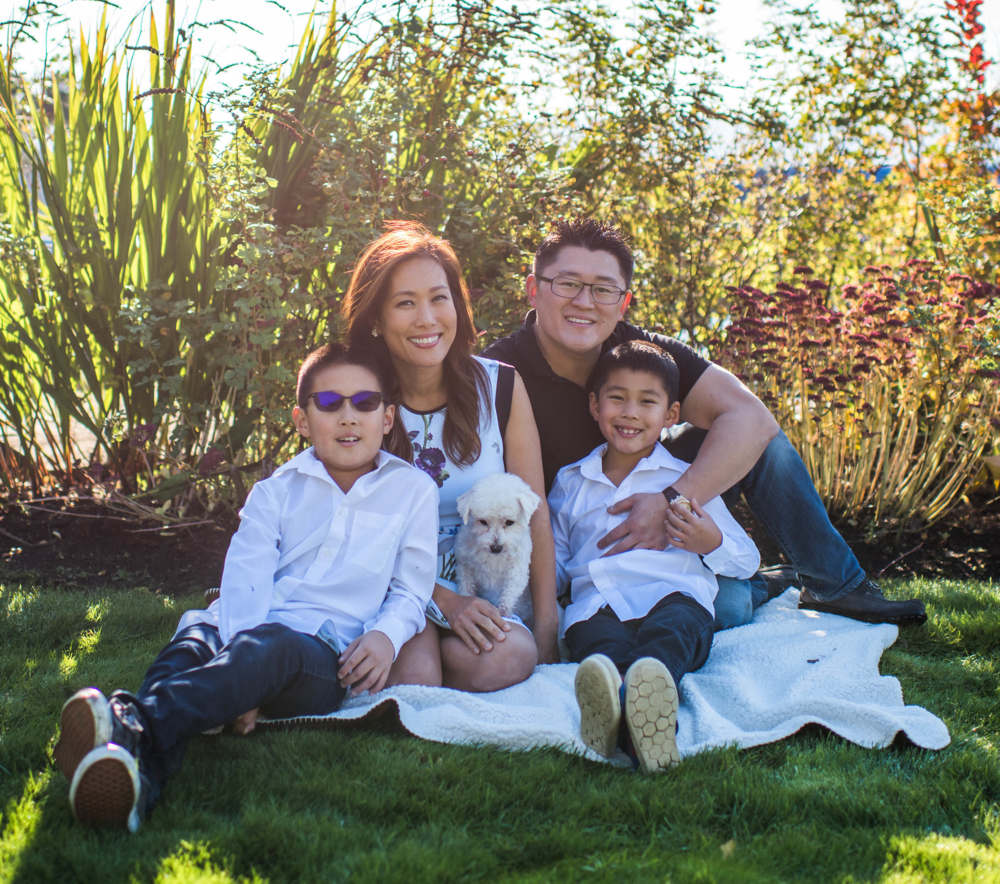 Dr Thomas Kang, Dr. Katie Kim and their two boys Michael and Marcus