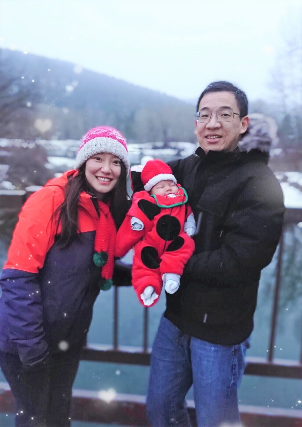 Dr. Liu with wife Sunny and Son Evan.