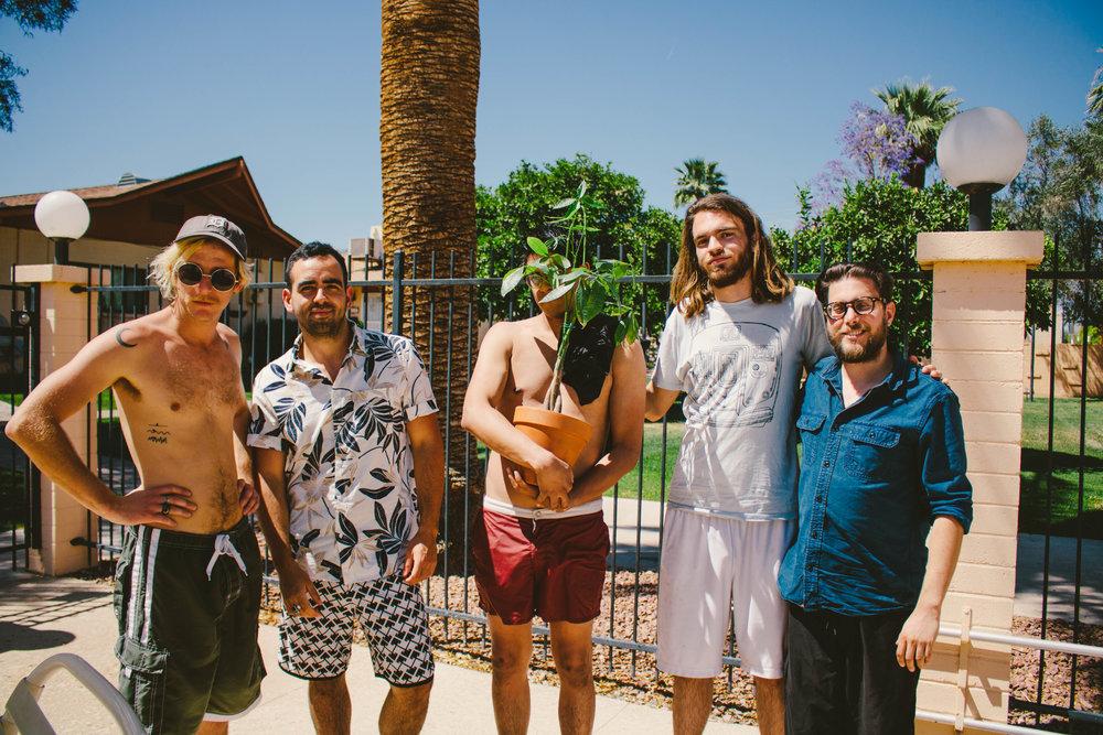 (from left to right: Vance, Sam, JJ (& Monet), Francis, Greg)