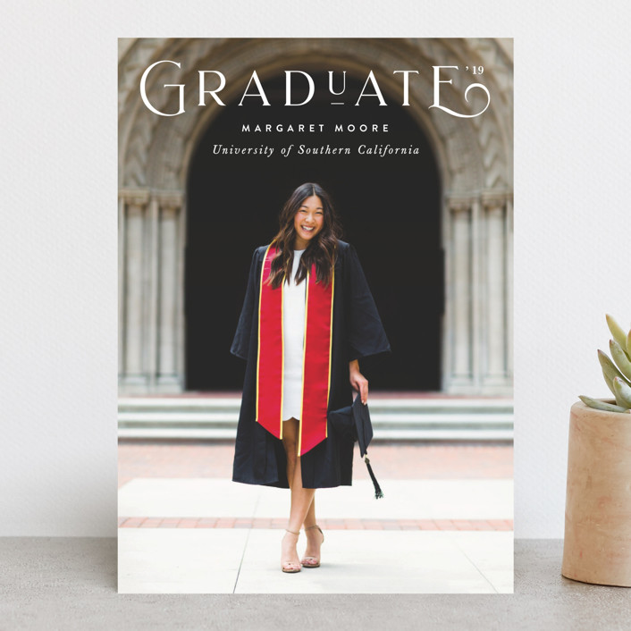 'Polished' Graduation Announcement by Sara Hicks Malone