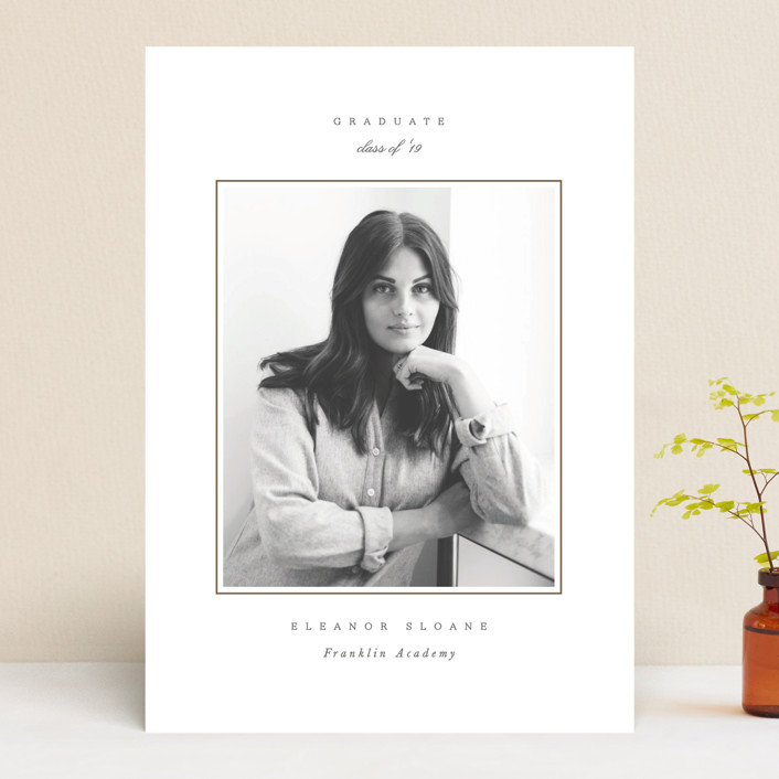 'Effortless' Graduation Announcement by Sara Hicks Malone