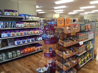 Treats, treats and more treats!  And of course all of them are USA made.    We stock a great selection of Grain-free, all natural treats and chews.