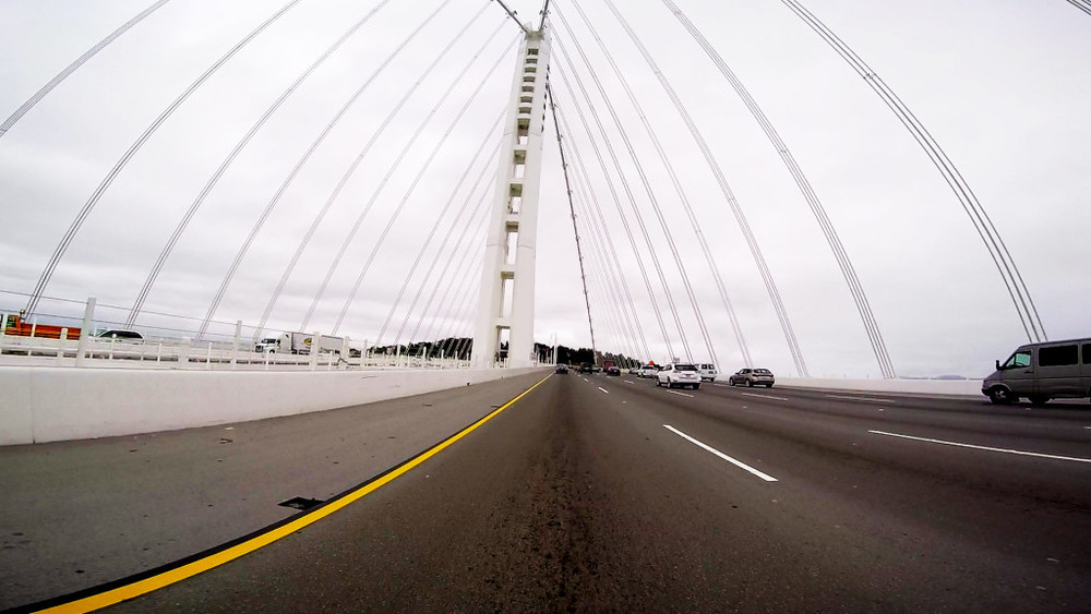 "The ""New"" Bay Bridge – Crossing from Oakland into San Francisco"