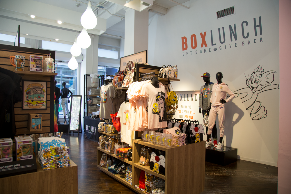 BoxLunch was our retail partner and provided an amazing assortment of merch that visitors could purchase. This activation was also used to launch a broader partnership with BoxLunch across all of their retail locations.