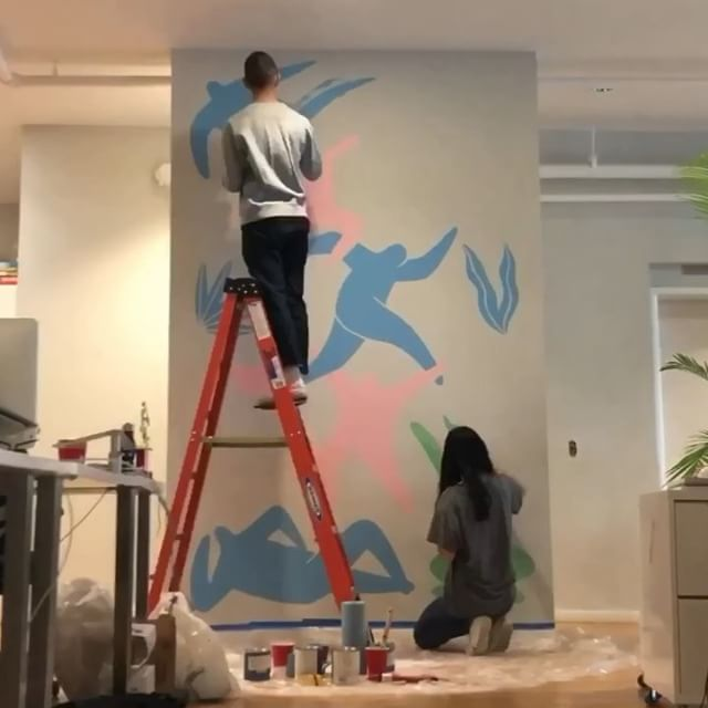 New NYC office vibes got us feeling inspired. Thanks for the mural, @jocelyntsaih!