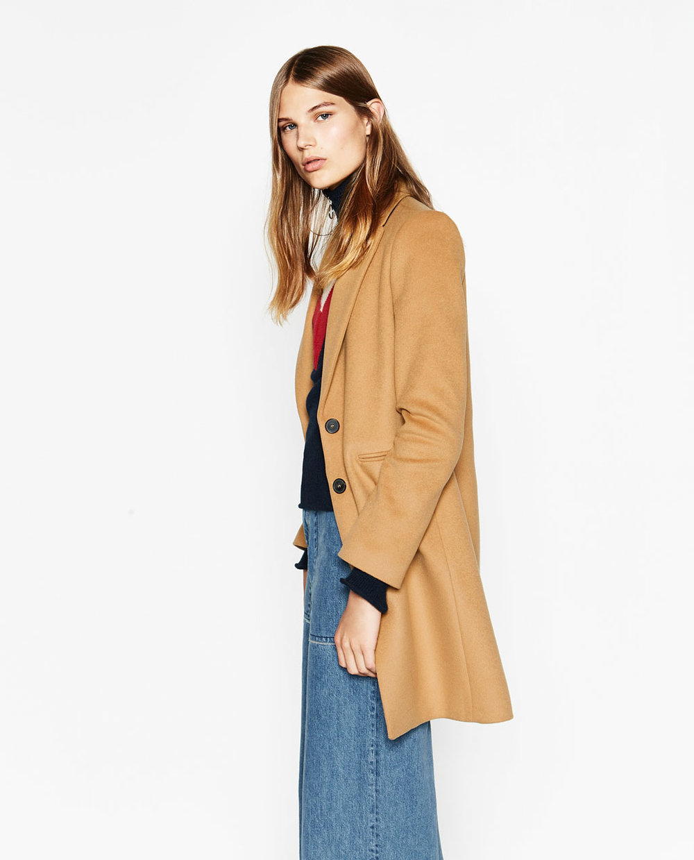 Masculine Coat in Camel