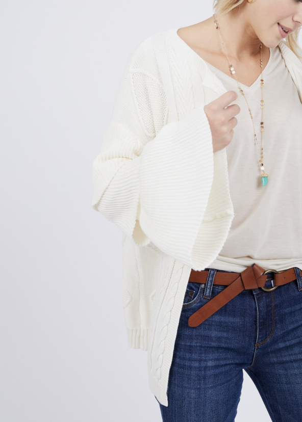 THML Tiered Sleeve Cardigan
