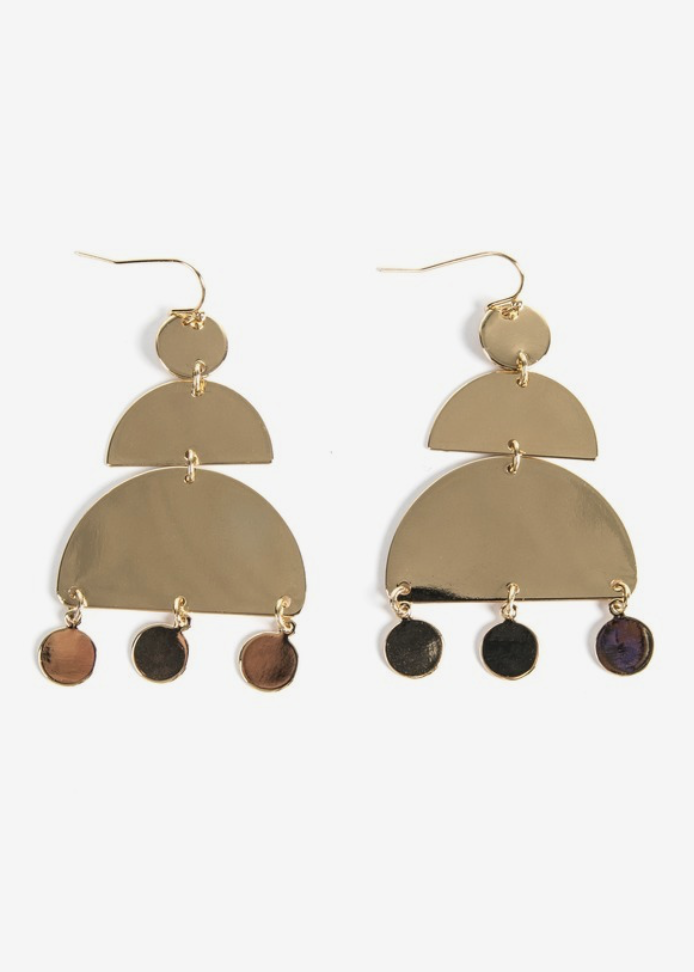 Hayes Geo Tiered Drop Earring
