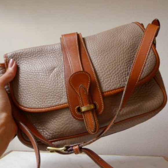 Vintage Taupe Leather Dooney & Bourke Crossbody