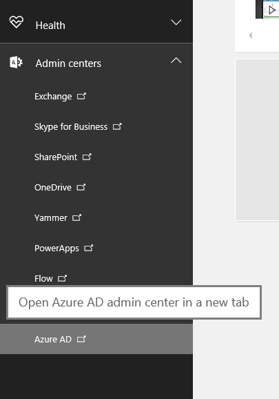 From the launcher, click on Azure AD.