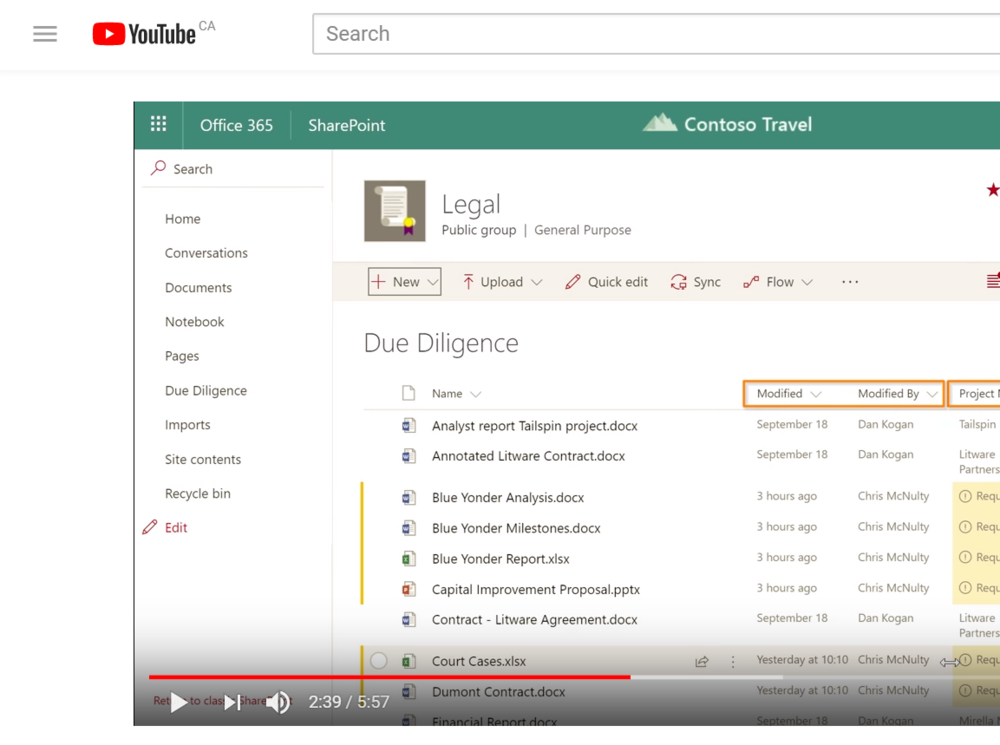 New ECM Features in SharePoint - If you're using SharePoint's ECM features, you won't want to miss this YouTube video from the Microsoft Mechanics on recent updates.