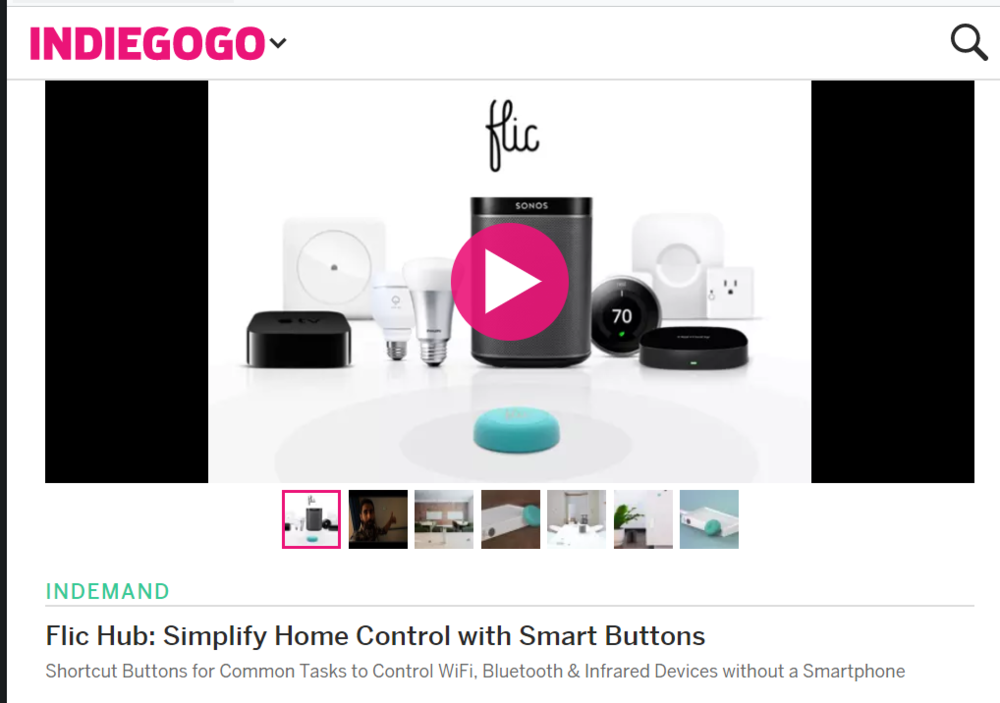 The Flic Hub is Here - No more need to link these amazing buttons to your phone.  Better get your wallet.
