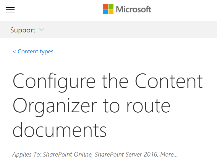 SharePoint ECM 101: The Content Organizer - This extremely helpful feature makes it easier to make sure content is classified and stored in the right places.