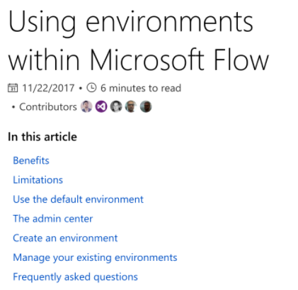 MS Flow Environments.  - If you aren't using these yet, you probably should be.