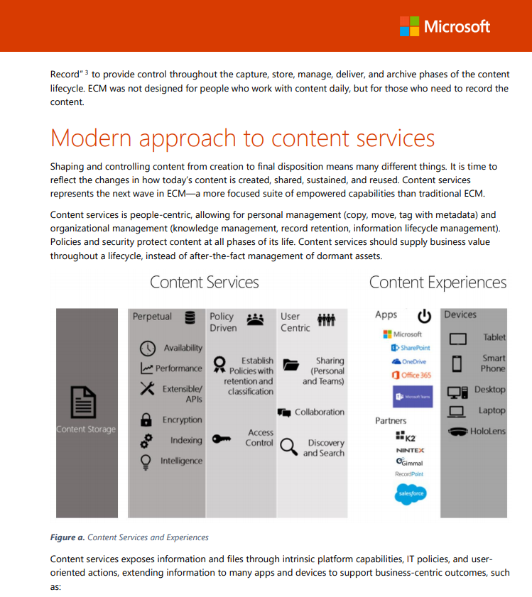 Free Whitepaper: Modernizing ECM with MS Content Services -