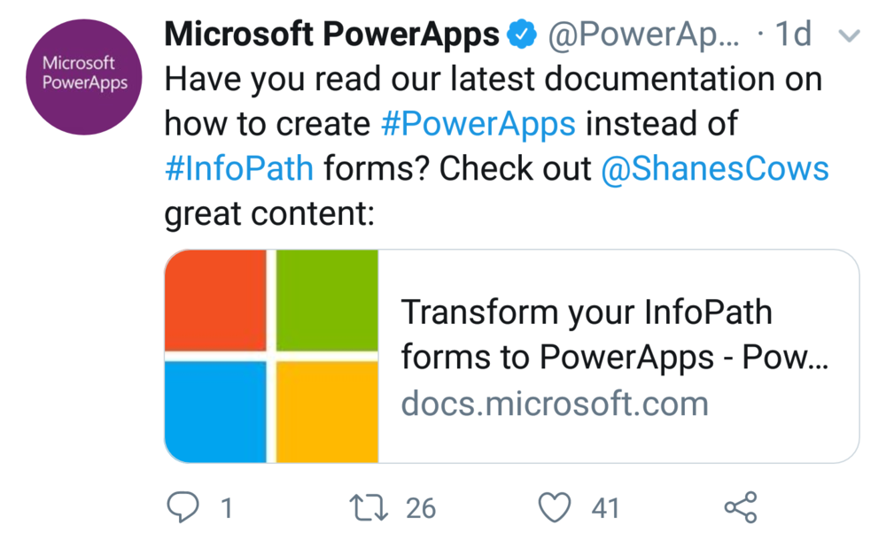 PowerApps is your Way Forward from InfoPath - Follow this article for great instructions on how to replace your InfoPath forms with PowerApps. (Microsoft)