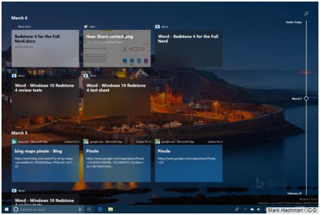 Windows 10 Timeline View - Quickly look back at all the apps you've used and when you've used them. (PCWorld)