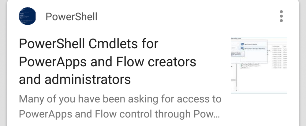 PowerShell Cmdlets for Flow and PowerApps - These will make your life easier.(Microsoft)