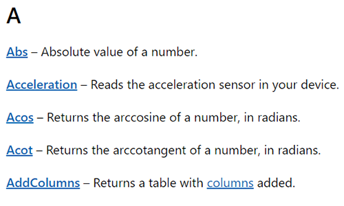 PowerApps Function Reference - A complete reference of functions for your PowerApps